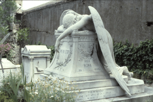 sixpenceee:Angel of Grief is an 1894 sculpture by William Wetmore Story which serves as the grave stone of the artist and his wife at the Protestant Cemetery in Rome. : sixpenceee:Angel of Grief is an 1894 sculpture by William Wetmore Story which serves as the grave stone of the artist and his wife at the Protestant Cemetery in Rome.