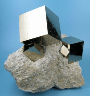 Target, Tumblr, and Blog: sixpenceee:Believe it or not the perfect cubes of pyrite forms naturally.