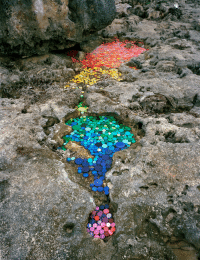 Target, Tumblr, and Aesthetic: sixpenceee:  Washed Up is an environmental installation and photography project that transforms the international debris washing up on Mexico's Caribbean coast into aesthetic yet disquieting works. By Alejandro Durán.