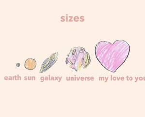 Love, Memes, and Earth: sizes  earth sun galaxy universe my love to you Memes I've sent my boyfriend (5/infinity)