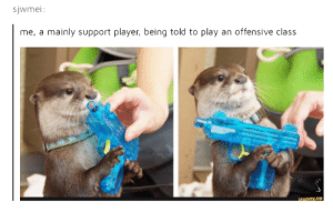 Player, Class, and Play: sjwmei  me, a mainly support player, being told to play an offensive class Get in there, medic.