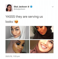 If anyone knows the woman in the top right picture, pls mention their @ in the comments so I can tag them 🌸 Hateful bigots shall be blocked.: Skai Jackson  @skaijackson  YASSS they are serving us  looks  28/5/16, 1:03 pm If anyone knows the woman in the top right picture, pls mention their @ in the comments so I can tag them 🌸 Hateful bigots shall be blocked.