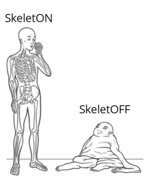Intellectual, Skeleton, and Me-An-Intellectual: SkeletON  SkeletOFF Me, an intellectual