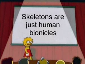 The spook was within us all along: Skeletons are  just human  bionicles The spook was within us all along