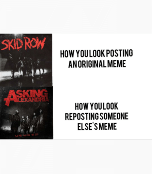 If I see one more got dam repost get a million upvotes: SKIDROW  HOW YOULOOK POSTING  ANORIGINAL MEME  ASKING  LEXANDRIA  HOW YOULOOK  REPOSTING SOMEONE  ELSE'S MEME  LIFE 6ONE WILD If I see one more got dam repost get a million upvotes