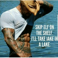 Dank, Elf, and Elf on the Shelf: SKIP ELF ON  THE SHELF  TLE TAKE JAKE  ALAKE