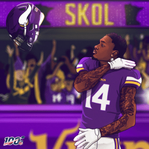 Memes, Nfl, and Minneapolis: SKOL  14  UTNTOP IS WOTHINCEACHFYOU ST KTEM  NFL 10 seconds left. 61 yards. Everything on the line.  The Minneapolis Miracle 🙌 #NFL100 https://t.co/yxMaqYn48K