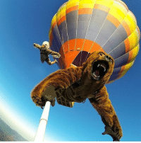 Sky diving out of a hot air balloon... In costumes theladbible: Sky diving out of a hot air balloon... In costumes theladbible