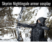 (y) Games Rock My World: Skyrim Nightingale armor cosplay (y) Games Rock My World