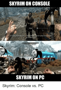 Skyrim: SKYRIM ON CONSOLE  SKYRIM ON PC  Skyrim: Console vs. PC