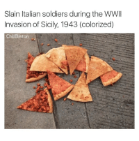 RIP: Slain Italian soldiers during the WWII  Invasion of Sicily, 1943 (colorized)  Chill Blinton RIP