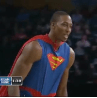 "Dunk, Dwight Howard, and Memes: SLAM  DUNK 1:38  130 Dwight Howard did his ""Superman"" Dunk Then Nate Robinson dunked over ""Superman"" 😯💯 KRYPTONITE SUPERMAN"
