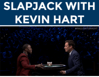 """<p>Slap yourself out of morning grogginess with Kevin Hart,Jimmy Fallon, and<a href=""""https://www.youtube.com/watch?v=5Ov8xEuX2XI"""" target=""""_blank"""">high-stakes game of Slapjack!</a><br/></p>: SLAPJACK WITH  KEVIN HART <p>Slap yourself out of morning grogginess with Kevin Hart,Jimmy Fallon, and<a href=""""https://www.youtube.com/watch?v=5Ov8xEuX2XI"""" target=""""_blank"""">high-stakes game of Slapjack!</a><br/></p>"""