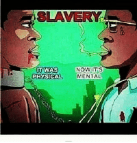 Memes, Afrikaner, and 🤖: SLAVERY  IT WAS  NOW  ITS  PHYSICAL  MENTAL Break free from all European Mindset. Challenge it with your Afrikan mind.