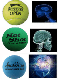 Memes, Gru, and 🤖: Slazenger  OPEN  E lot  Shot  Handballs  HIGH-BOUNCE BALL Gru