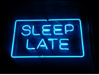 Sleep and  Late: SLEEP  LATE