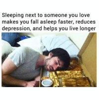 ⠀: Sleeping next to someone you love  makes you fall asleep faster, reduces  depression, and helps you live longer ⠀