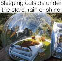Memes, Rain, and Stars: Sleeping outside under  the stars, rain or shine  piritual Thoughts Via @spiritualthoughts 🙏❤ Tag someone you would spend a night here with ✨😍 - awakespiritual nightsky goodvibes