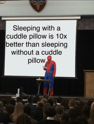 Sleeping, Am I Doing This Right, and Pillow: Sleeping with a  cuddle pillow is 10x  better than sleeping  without a cuddle  pillow Am I doing this right?