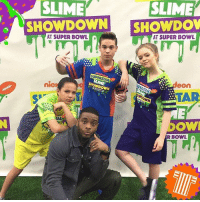 Memes, 🤖, and Jade: SLIME SLIME  SHOWDOWN  SHOWDOV  AT SUPER BOWL  AT SUPER BOWL  SUPERSTA  nicm  eOn  OWI  R BOWL Ricardo, Bre, Jade, & Kel are suiting up for our Superstar Slime Showdown airing this Sunday at 12pm-11c! 💚🏈 nicksb51 schoolofrock gameshakers sb51