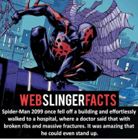▲▲ - The guys got heart! - My other IG accounts @factsofflash @yourpoketrivia @facts_of_heroes ⠀⠀⠀⠀⠀⠀⠀⠀⠀⠀⠀⠀⠀⠀⠀⠀⠀⠀⠀⠀⠀⠀⠀⠀⠀⠀⠀⠀⠀⠀⠀⠀⠀⠀⠀⠀ ⠀⠀----------------------- spiderman peterparker tomholland marvelfacts spidermanfacts webslingerfacts venom carnage avengers xmen justiceleague marvel homecoming tobeymaguire andrewgarfield ironman spiderman2099 civilwar auntmay like gwenstacy maryjane deadpool miguelohara hobgoblin milesmorales like4like: SLINGER  FACTS  WEB  Spider-Man 2099 once fell off a building and effortlessly  walked to a hospital, where a doctor said that with  broken ribs and massive fractures. It was amazing that  he could even stand up. ▲▲ - The guys got heart! - My other IG accounts @factsofflash @yourpoketrivia @facts_of_heroes ⠀⠀⠀⠀⠀⠀⠀⠀⠀⠀⠀⠀⠀⠀⠀⠀⠀⠀⠀⠀⠀⠀⠀⠀⠀⠀⠀⠀⠀⠀⠀⠀⠀⠀⠀⠀ ⠀⠀----------------------- spiderman peterparker tomholland marvelfacts spidermanfacts webslingerfacts venom carnage avengers xmen justiceleague marvel homecoming tobeymaguire andrewgarfield ironman spiderman2099 civilwar auntmay like gwenstacy maryjane deadpool miguelohara hobgoblin milesmorales like4like