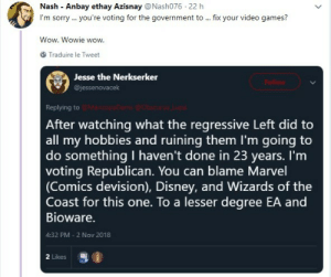 sload: dr-archeville:  between-stars-and-waves: Don't let evil jackasses like this one decide your future. Vote.  What the absolute fuck?   friendly reminder that steve bannon used to own a world of warcraft gold farming company and realized that a lot of gamers are disenfranchised young white men who are absurdly easy to take political advantage of, and brought milo yiannopoulos on board to do it. which is a large reason why white supremacy and misogyny are so prevalent among the young white male age group right now. We can laugh at people like this all we want, but this is a phenomenon purposefully engineered by the current administration. : sload: dr-archeville:  between-stars-and-waves: Don't let evil jackasses like this one decide your future. Vote.  What the absolute fuck?   friendly reminder that steve bannon used to own a world of warcraft gold farming company and realized that a lot of gamers are disenfranchised young white men who are absurdly easy to take political advantage of, and brought milo yiannopoulos on board to do it. which is a large reason why white supremacy and misogyny are so prevalent among the young white male age group right now. We can laugh at people like this all we want, but this is a phenomenon purposefully engineered by the current administration.