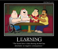 """abusin alkohol no such tink: sloshspot.com  LEARNING  """"The lesson here is that abusing alcohol has  absolutely no negative consequences."""" abusin alkohol no such tink"""