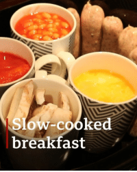 Memes, Breakfast, and Fancy: Slow-cooked  breakfast Fancy a full English breakfast ready for when you wake up? 😋 A slow-cooker enthusiast who came up with the idea says she's shocked by her recipe's popularity. Tap on the link in our bio 👆 to see what you need to do to make this weekend treat! breakfast englishbreakfast slowcooker tasty bbcnews