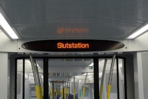 Sweden, Train, and The Train: Slutstation Welcome to Sweden! This really is where everyone gets off the train.