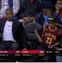 """Cavs, Memes, and Wshh: SLW GSIND  CLEVEAI  23  VALIERS  meouts: 2  119 HAWKs  BONUS Timeouts: 1  112 4th Qtr :43.6  BONUS """"Isaiah Thomas was sitting courtside with a fan during the Cavs game."""" 😂 IsaiahThomas @houseofhighlights WSHH"""