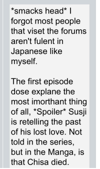 """Head, Love, and Lost: *smacks head* 