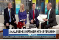 "White House, Business, and House: SMALL BUSINESS OPTIMISM HITS 45-YEAR HIGH  FOX afriends  TUTIONAL RIGHT TO FREEDOM OF THE PRESS WHEN IT SUSPENDED WHITE HOUSE CORRESPONDEN ""More WINNING for the Trump economy -- small business optimism setting a new record with the need for employees hitting a 45-year high."""