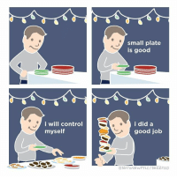 Every holiday party (By @nathanwpyle): small plate  is good  i will control  myself  i did a  good job  ONATHANWPYLE/BUZZFEED Every holiday party (By @nathanwpyle)
