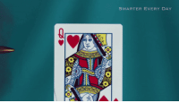 Slow Motion, Day, and Motion: SMARTER EVERY DAY  0S Bullet Splitting Playing Card in Slow Motion
