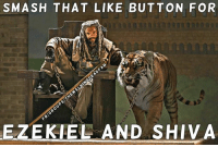 Fam, Hype, and Martin: SMASH THAT LIKE BUTTON FOR  EZEKIEL AND SHIVA Goodnight fam. SMASH that like button, if you're HYPED for a new chapter in The Walking Dead. (Y) JOIN US: http://bit.ly/1TGOfeX ~Martin