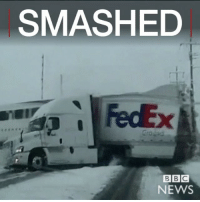 "Memes, Bbc News, and Utah: SMASHED  BBC  NEWS Repost: @BBCNews-""26 JAN: Watch dramatic footage of a truck being hit by a commuter train in snowy Utah. The North SaltLake Police Department captured the event – in which there were no serious injuries – on a patrol car dashcam. Safety barriers and flashing lights were not activated until after the crash. The accident, which happened on Saturday 21 January, is still under investigation."" 😳😩🙏 WSHH"