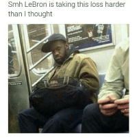 Damn he not recovering from this one: Smh LeBron is taking this loss harder  than I thought Damn he not recovering from this one