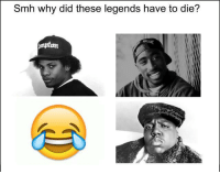 Smh, Legends, and Why: Smh why did these legends have to die?  an https://t.co/UimaM72rxu