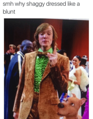 Smh, Shaggy, and Why: smh why shaggy dressed like a  blunt