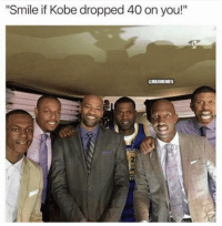 "Basketball, Nba, and Sports: Smile if Kobe dropped 40 on you!""  CBAMEMES 13 years ago today Kobe dropped 81 on the Raptors🙌 peep Rose😂"