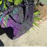 Shopping, Tumblr, and Work: smileyulialu:  FABULOUS GEOMETRIC LUMINOUS BAG. The attractive ability of this bag it changes color depending upon light!Geometric Elements  High Capacity Design apply to many kinds of situations, like work, shopping, camping! = GET YOURS HERE =