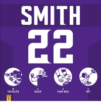 Memes, Game, and 🤖: SMITH  8  TACKLES  1  SACK  1  FUM REC  INT  WK HUGE game for @HarriSmith22! #HaveADay #SFvsMIN  #SKOL https://t.co/HnrBHJg3KM
