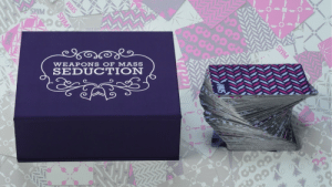 Cards Against Humanity, Fake, and Lol: SMM  WEAPONS OF MASS  SEDUCTION lol-coaster:    Cards Against Humanity co-founder takes sex game to Kickstarter   A Cards Against Humanity co-founder is launching a Kickstarter campaign Wednesday for a card game — one he hopes will inspire couples to push boundaries in the bedroom.  Weapons of Mass Seduction is an adult card game in which players are challenged to guess what intimate acts their partners would most enjoy. There are different ways to play, from simply winning points for correct guesses to a more complicated version in which players buy and sell acts by assigning them fake dollar values.
