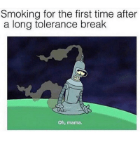 Smoking, Weed, and Break: Smoking for the first time after  a long tolerance break  Oh, mama. Does anyone still take tolerance breaks? @buddytheleaf