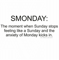 I have to admit @black_humorist this is epically accurate😩😩😆: SMONDAY.  The moment when Sunday stops  feeling like a Sunday and the  anxiety of Monday kicks humorist  in I have to admit @black_humorist this is epically accurate😩😩😆