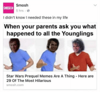 Normies have found prequel memes SELL SELL SELL: Smosh  SMOSH  5 hrs  I didn't know I needed these in my life  When your parents ask you what  happened to all the Younglings  Star Wars Prequel Memes Are A Thing Here are  29 Of The Most Hilarious  smosh.com Normies have found prequel memes SELL SELL SELL