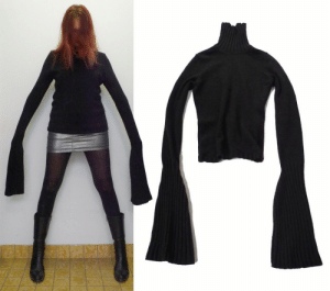 Tumblr, Blog, and Http: snakegay: humalien:  TURTLENECK WITH EXTENDED SLEEVES FROM ANN DEMEULEMEESTER  i tie the ends of the sleeves shut and fill them with rocks if anyone tries to stop me i start swinging
