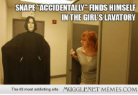 """Girls, Memes, and Girl: SNAPE """"ACCIDENTALLY FINDS HIMSELF  NTHE GIRL'S LAVATORY  The #2 most addicting site  MUGGLENET MEMES.COM <p>Girl&rsquo;s Lavatory  <a href=""""http://ift.tt/1edPf8F"""">http://ift.tt/1edPf8F</a></p>"""