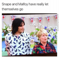 @madeinpoortaste just won best page on insta again 😂😂 Go follow 👊🏼: Snape and Malfoy have really let  themselves go @madeinpoortaste just won best page on insta again 😂😂 Go follow 👊🏼