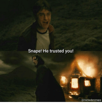 Hi everyone, where do you think that Snape's allegiance truly was? Follower count: 5844: Snape! He trusted you!  Camaraudersmapp Hi everyone, where do you think that Snape's allegiance truly was? Follower count: 5844